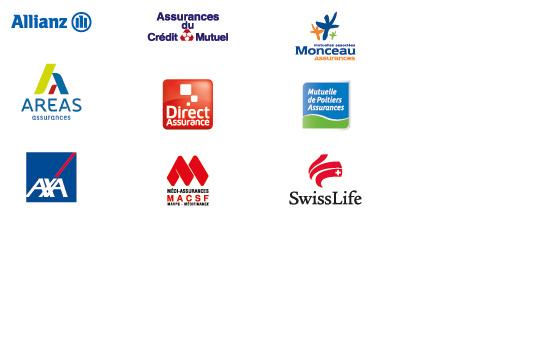 Partenaires et assurances agréées de la carrosserie de Bayeux